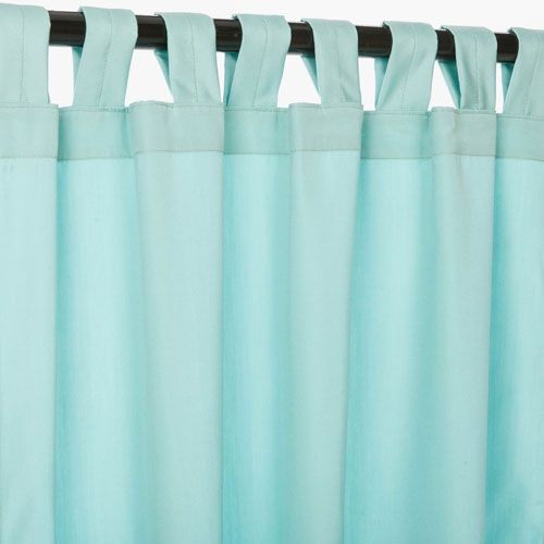 Sunbrella Curtains with Tabs Canvas Glacier