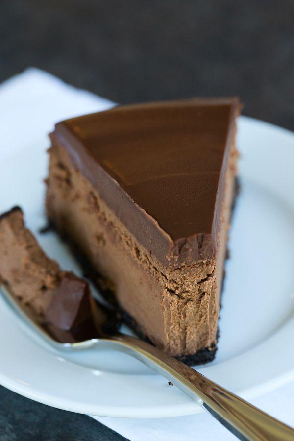 Chocolate Cheesecake | browneyedbaker.com #