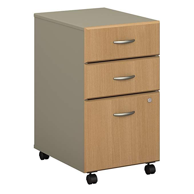 Bush Business Furniture Series A 3 Drawer Mobile File Cabinet In Light Oak And Sage Review Filing Cabinet Mobile File Cabinet Business Furniture