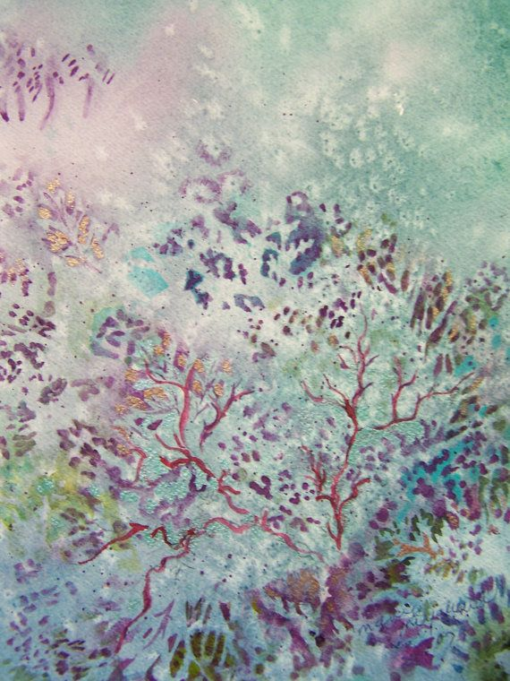 Coral Reef Art Note Card From Original Watercolor Painting