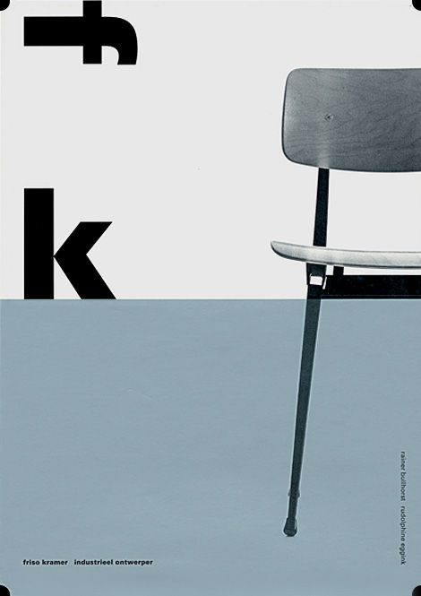 Front cover of the monograph on Dutch industrial designer Friso Kramer, published by 010 and sadly now out of print.