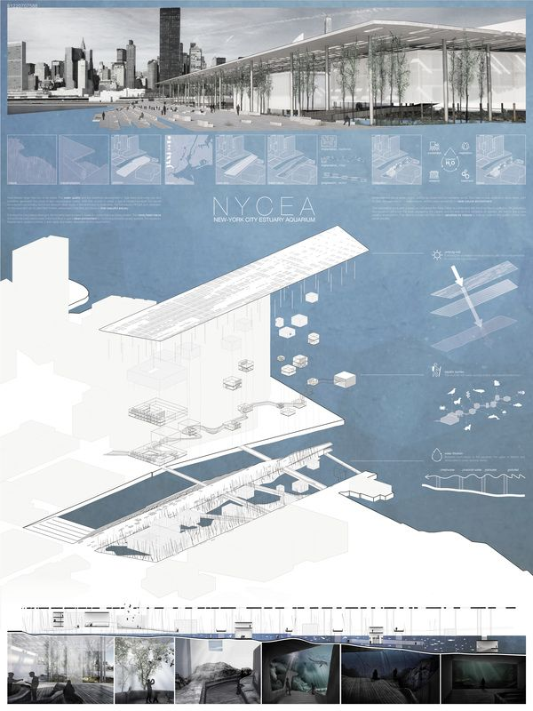 """ NYCEA – NEW-YORK CITY ESTUARY AQUARIUM "" - NYC Aquarium competition finalist"