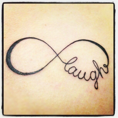 where it says laugh write dominic tattoo ideas pinterest tattoo infinity infinity and. Black Bedroom Furniture Sets. Home Design Ideas