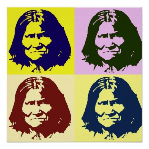 Pop Art Geronimo Poster - Freedom Fighter