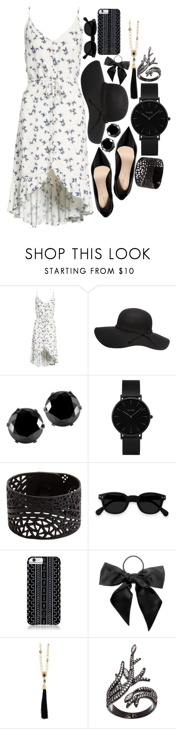"""Black Accessories - Throw and Go Dresses"" by corinned09 ❤ liked on Polyvore featuring Rails, West Coast Jewelry, CLUSE, Savannah Hayes, L. Erickson, Oscar de la Renta and Lord & Taylor"