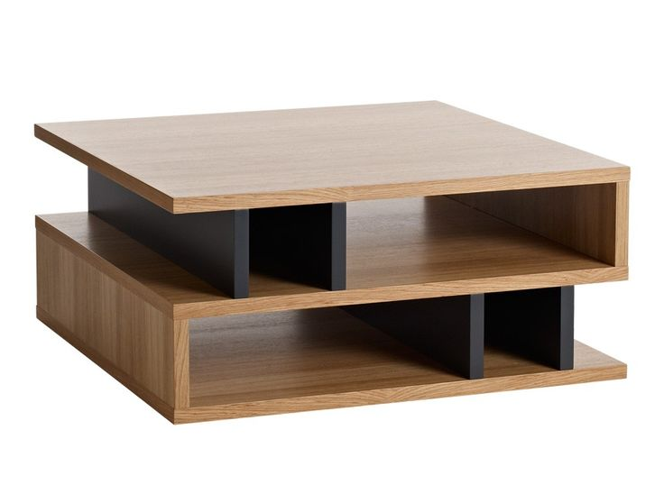 counter balance square coffee table with shelves system
