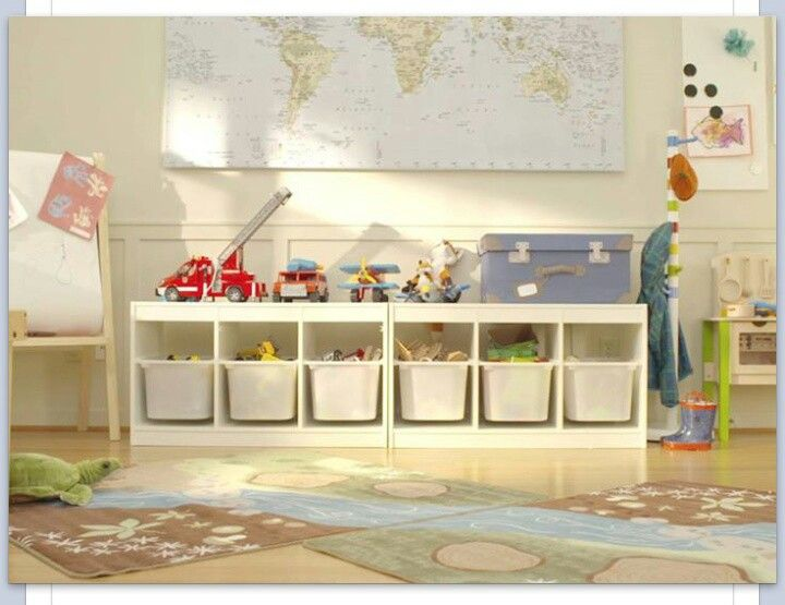 Ikea storage bench under great room window kids room pinterest plays ikea storage and - Toy shelves ikea ...