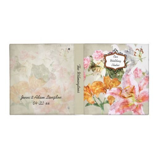 Watercolor Lilies Photo Binder   Click on photo to purchase. Check out all current coupon offers and save! http://www.zazzle.com/coupons?rf=238785193994622463&tc=pin