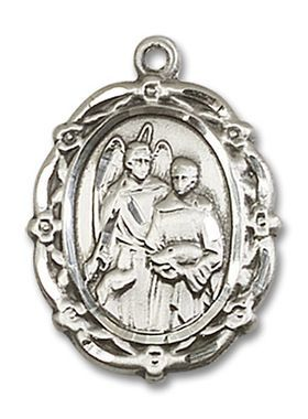 Sterling Silver St Raphael the Archangel Pendant 4146RASS