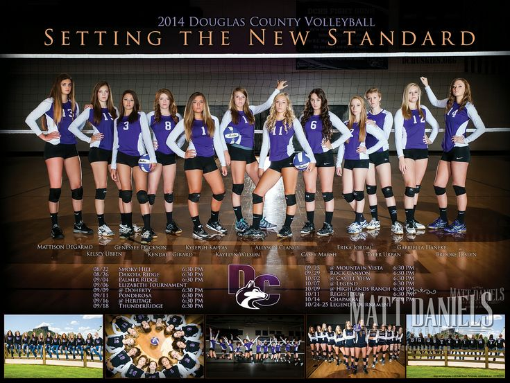 2014 Douglas County Volleyball photography and poster. Copyright 2014 Matt Daniels Photography.