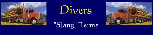 Diver's Trucker Slang- good for any trucker wife to know so you can have a conversation with your husband.