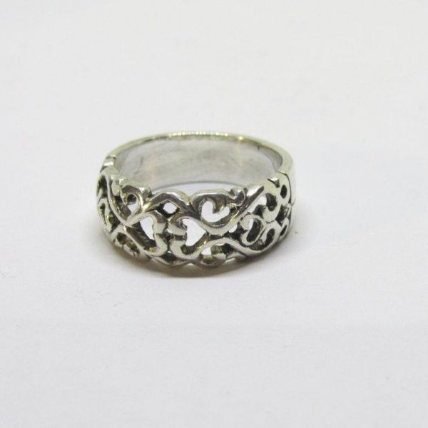 Sterling Silver Filigree Dome Ring: R550.00. Also available in 9k Yellow Gold at R4500.00