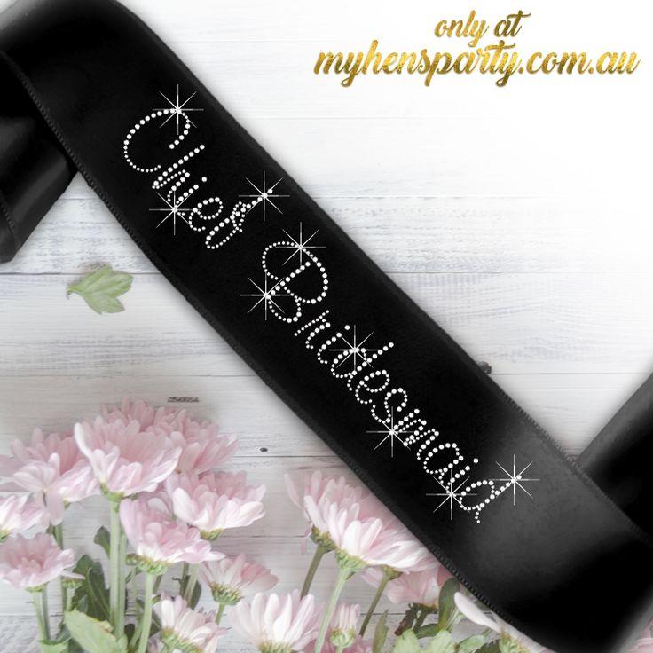 Chief Bridesmaid Sash - Diamante