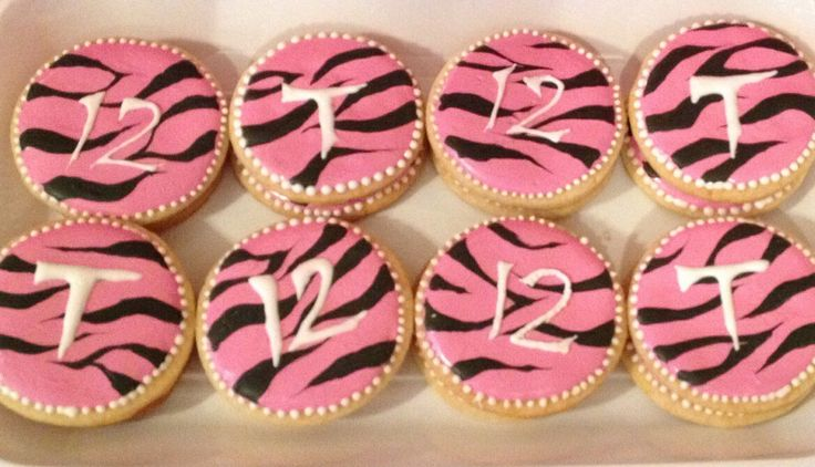 Animal print - pink zebra cookies!