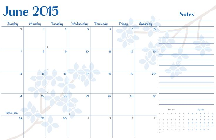 9 Best June 2015 Calendar Images On Pinterest 2015 Calendar With