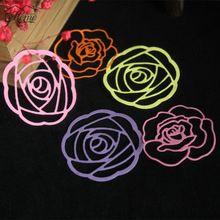 2 Unids Plantillas de Troqueles De Corte Rosa En Forma de Flor de Metal Repujado libro de Recuerdos Álbum Tarjeta De Papel Del Arte de DIY Decoración Del Hogar Carpeta(China)