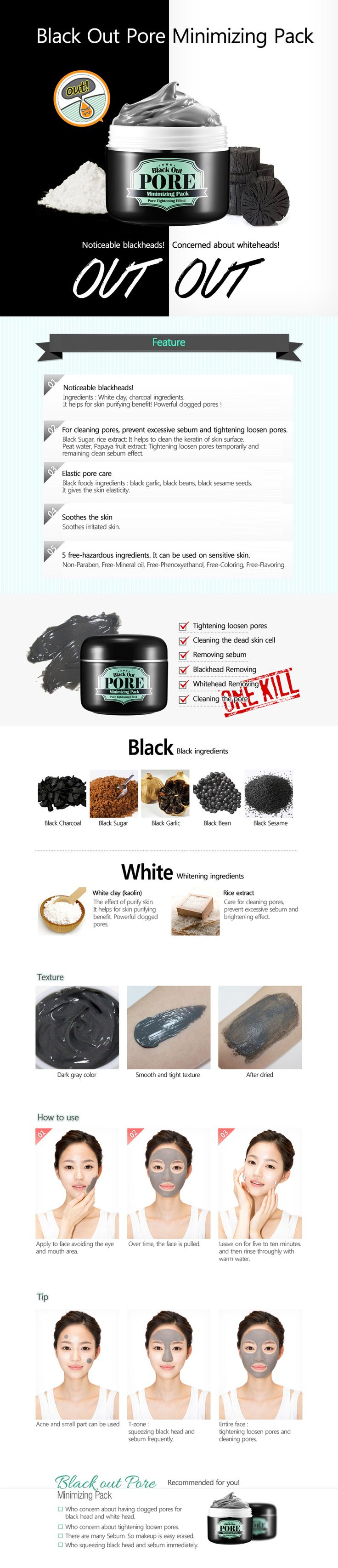 Secretkey blackout pore minimizing pack