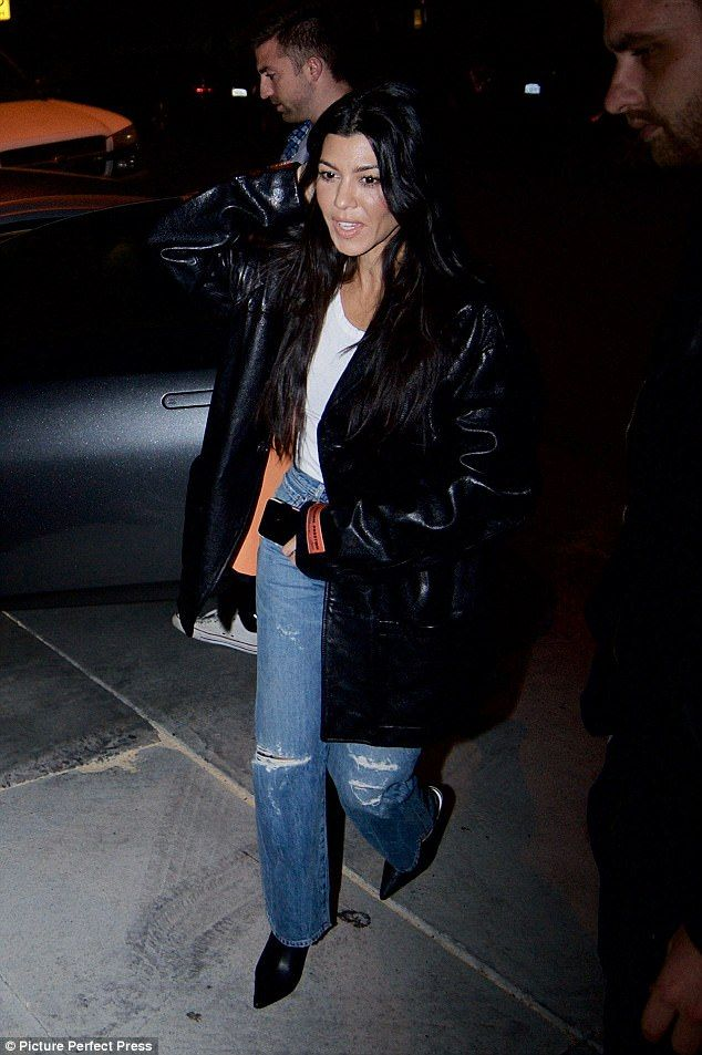 Always on-the-go: Kourtney seemed in good spirits a night after attending a Halloween bash with boyfriend Younes Bendjima