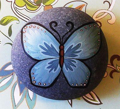 Lori-Lee Thomas - Bellas Artes & Blog ilustración: Rocas pintadas