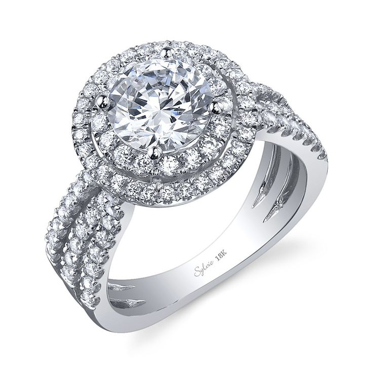 36 best DoubleHalo Engagement Rings images on Pinterest Halo