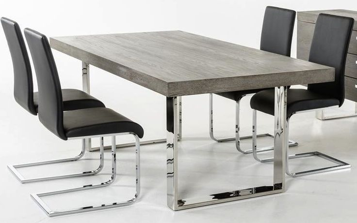Gray Wood Dining Table | AdvancedInteriorDesigns.com