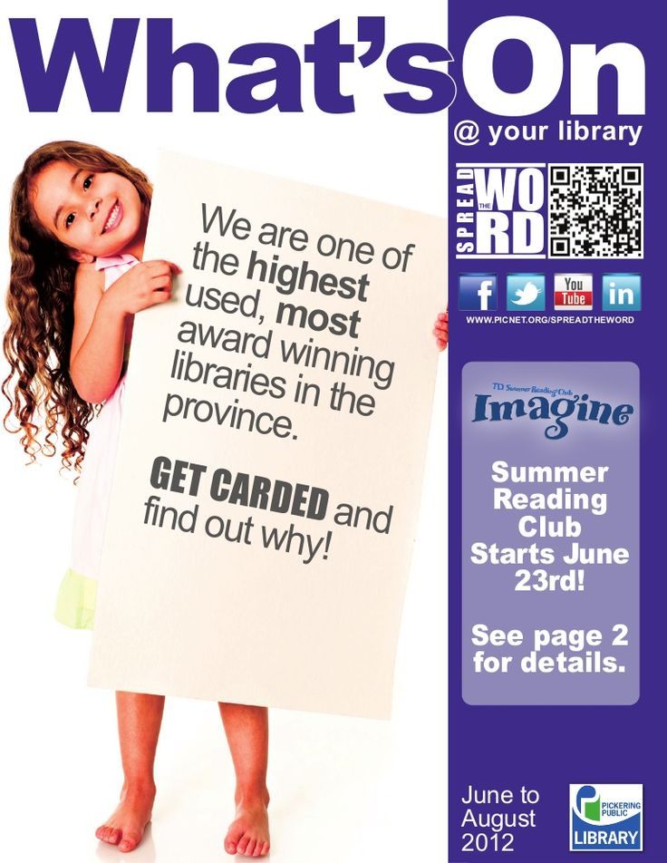 Whats On Summer 2012 by Pickering Public Library via slideshare