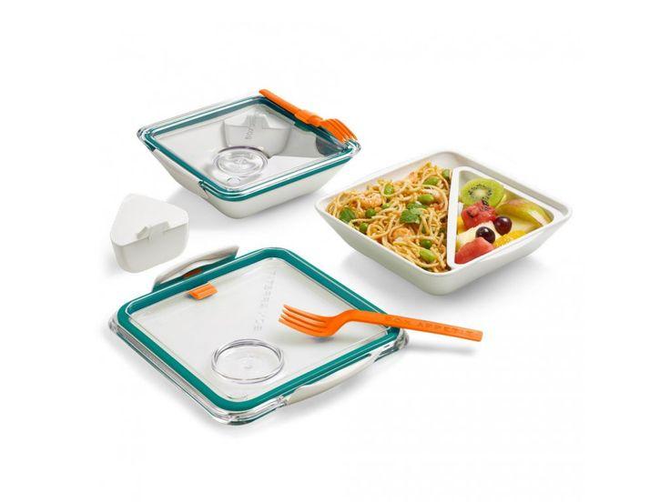 Krabička na jídlo s vidličkou. Jidlonosič Appetit vhodný pro přepravu a servírování lehkého poledního jídla.
