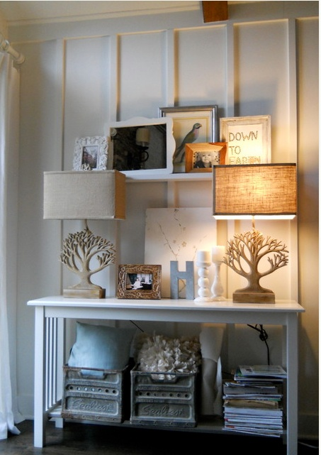 17 best images about sofa table on pinterest vintage for Entry wall table