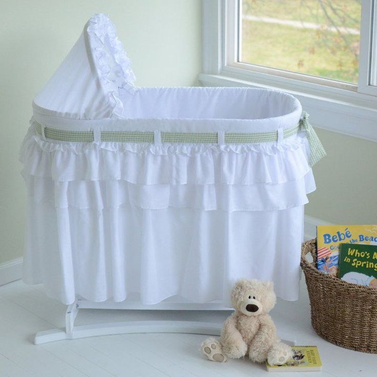 Lamont Home Good Night Baby Full Skirt Bassinet - 9060095-