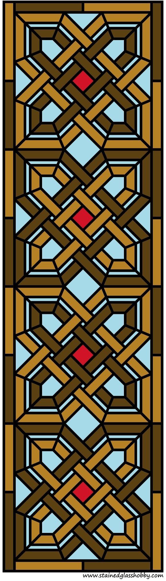 Projeto intrincado painel da porta de vidro manchado