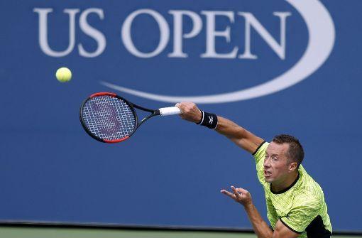 Philipp Kohlschreiber steht im Achtelfinale der US Open. Foto: FR110666