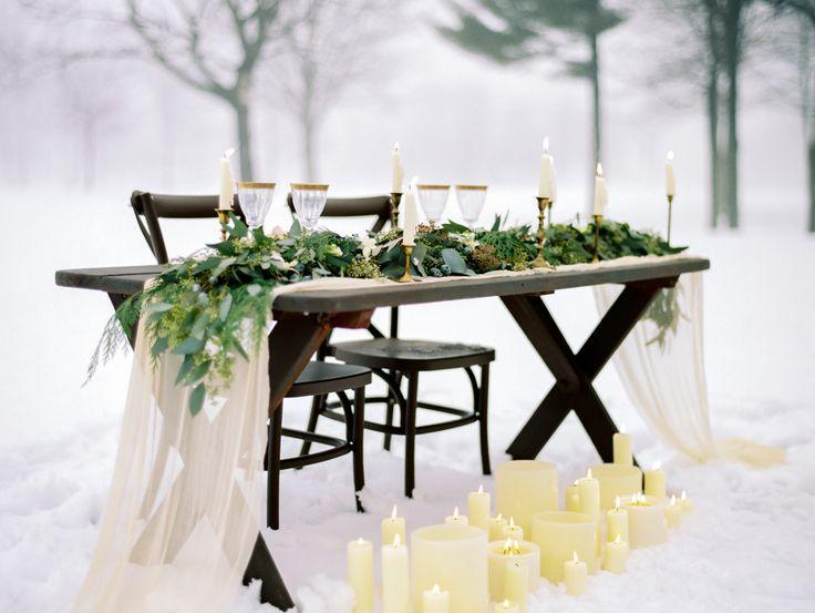 Photography : Natashia Nicole Photography Read More on SMP: http://www.stylemepretty.com/wisconsin-weddings/stevens-point/2016/02/22/organic-winter-wedding-inspiration/