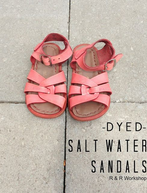 R & R Workshop: Coral Dyed Salt Water Sandals!!!  I have a pair of white ones I rescued from a free box--this would be so much better!