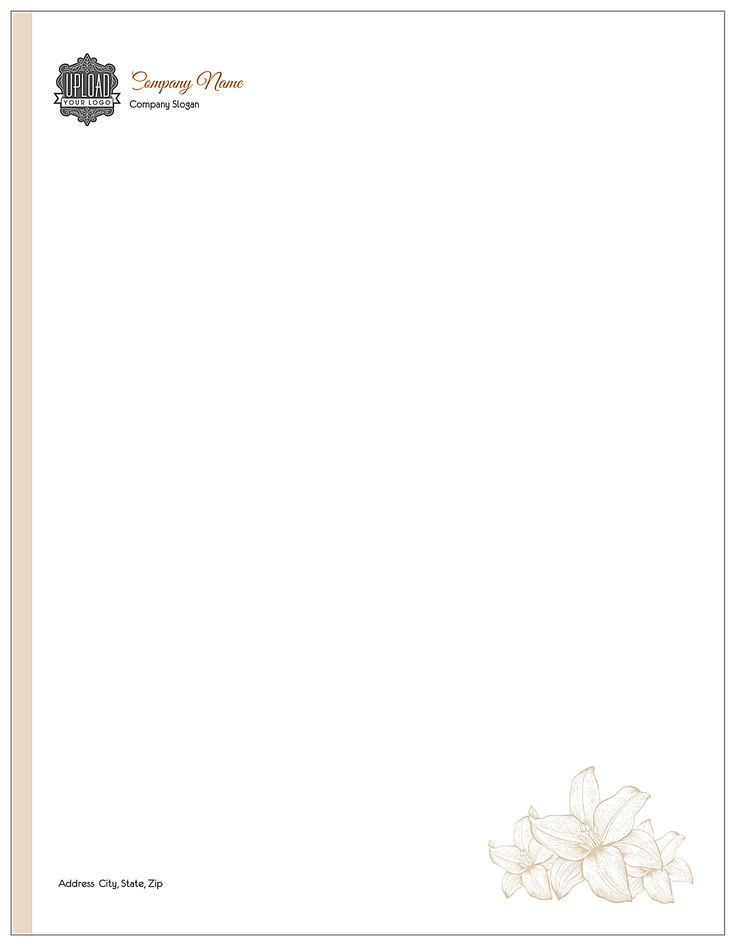 Flower with border front - Letterhead Maker