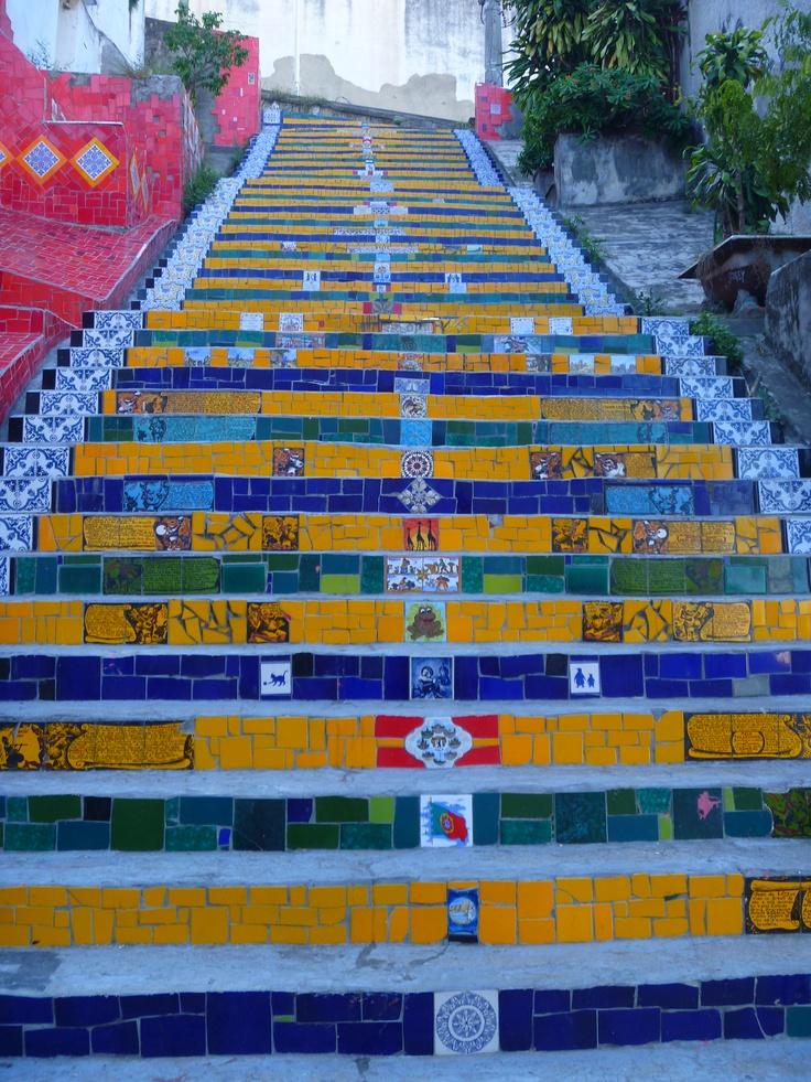 Rio, Brazil- mosaic steps