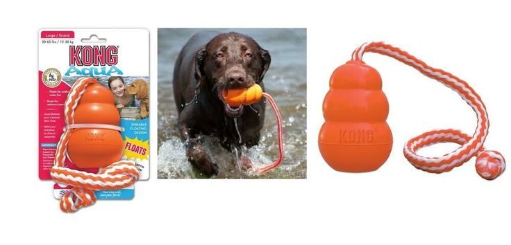Details about Aqua Floating Dog Pool Toy Orange Attached Rope for Endless Field or Water Fun