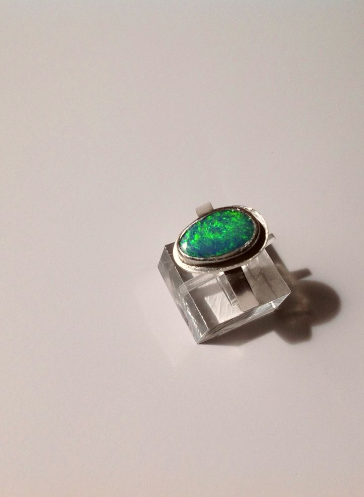 I finally set this beautiful doublet opal and the ring can be purchased in my Etsy shop.