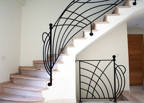 1000 ideas about rampe escalier fer forg on pinterest escalier fer wrought iron and stair Garde corps en fer forge pour escalier