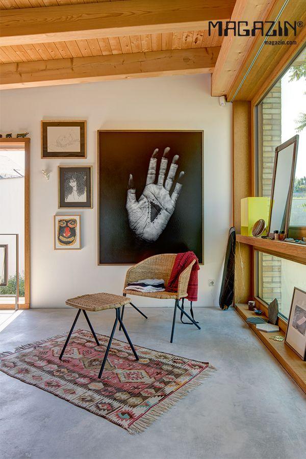 Sessel Kaki, Schwarz / Natur | Wohnzimmer einrichten ...