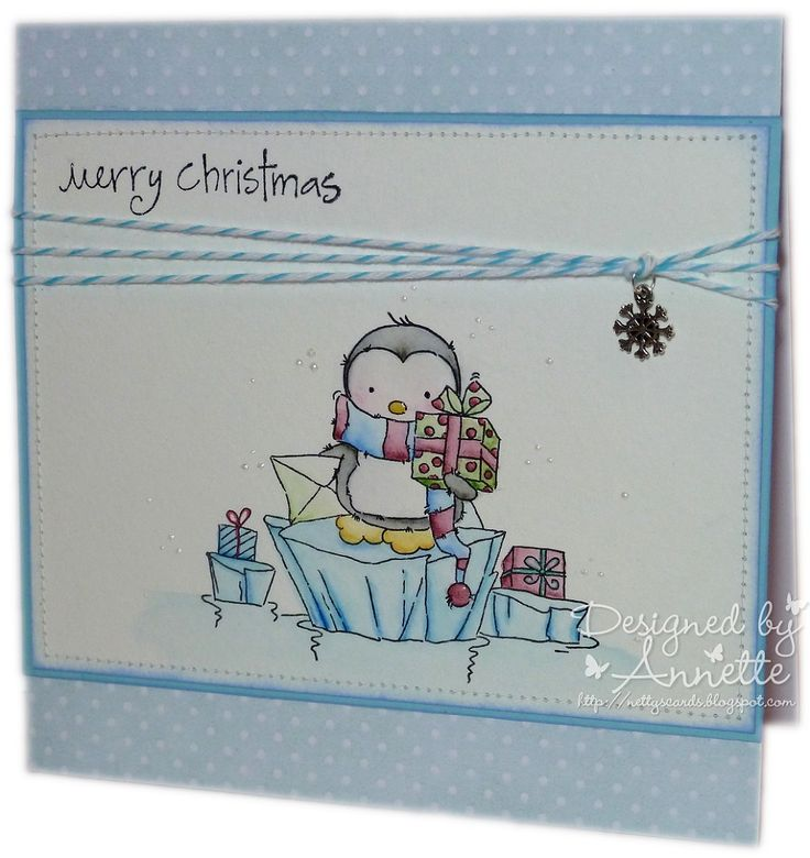Netty's Cards: Ice Cube Penguin
