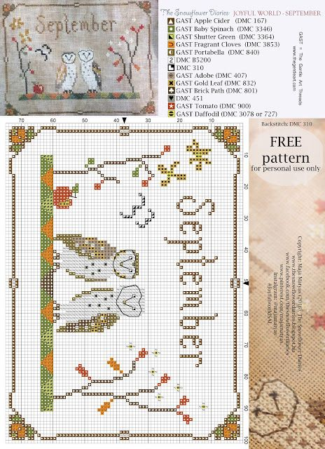 The Snowflower Diaries: JOYFUL WORLD - SEPTEMBER PATTERN