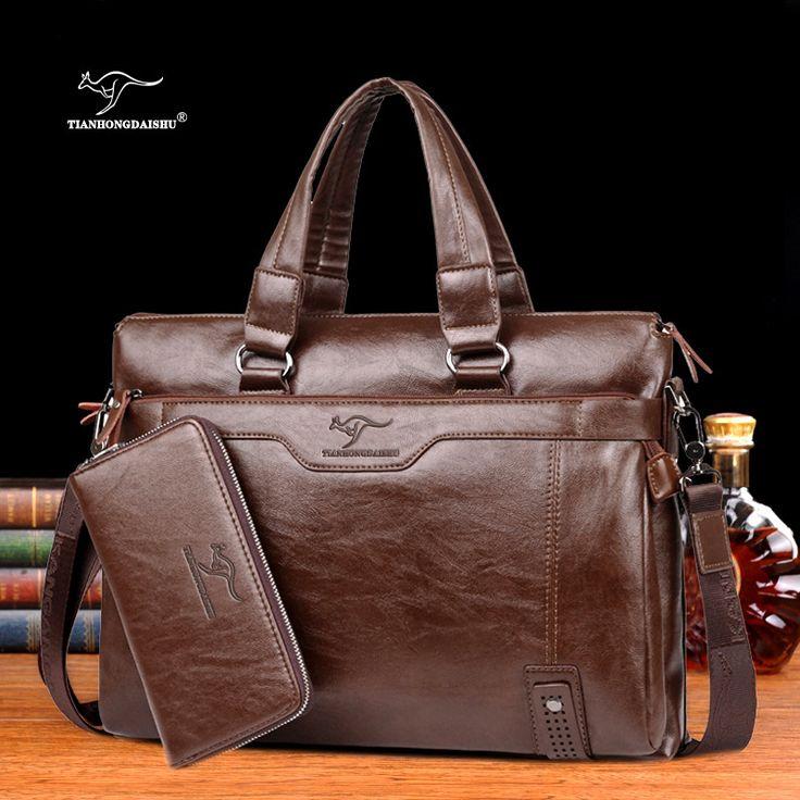 2017 Men Casual Briefcase Business Shoulder Leather Messenger Bags Computer Laptop Handbag  Men's Travel Bags handbags -  http://mixre.com/2017-men-casual-briefcase-business-shoulder-leather-messenger-bags-computer-laptop-handbag-mens-travel-bags-handbags/  #Handbags
