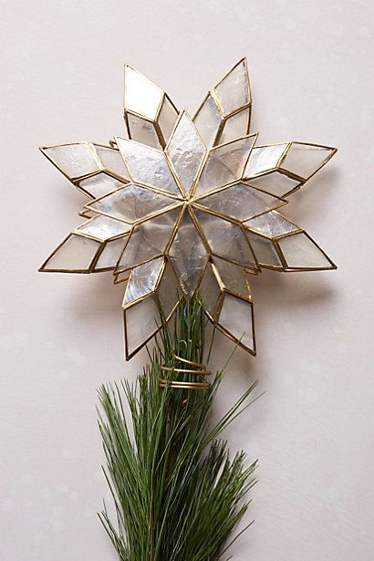 This year's purchase for our tree? Capiz Star Tree Topper - anthropologie.com