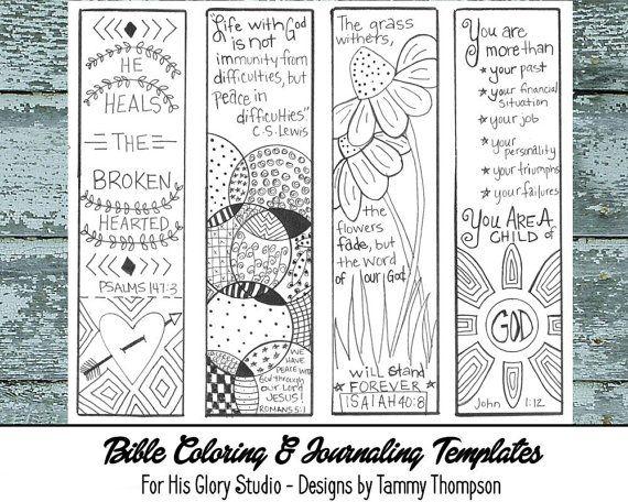 Bible journaling encouraging 3 bible journaling black for Religious bookmark templates