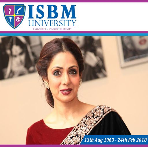 Prayers and fond memories are what we have to remember our dearly departed. May the love of family and friends comfort you during these difficult days,our most heartfelt condolences.  Gone from our sight, but never from our hearts. #sridevi #SrideviBkapoor #ISBMUniversity