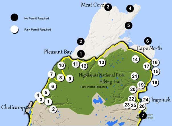 Cape Breton hiking trails, Hike the Highlands,The Skyline Trail, Pollett's Cove…