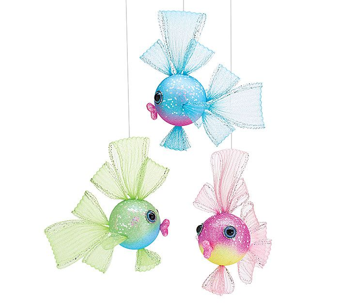 Coordinate these #burtonandburton assorted foam fish with mesh fins and covered in shimmery glitter into your Under the Sea party! #underthesea