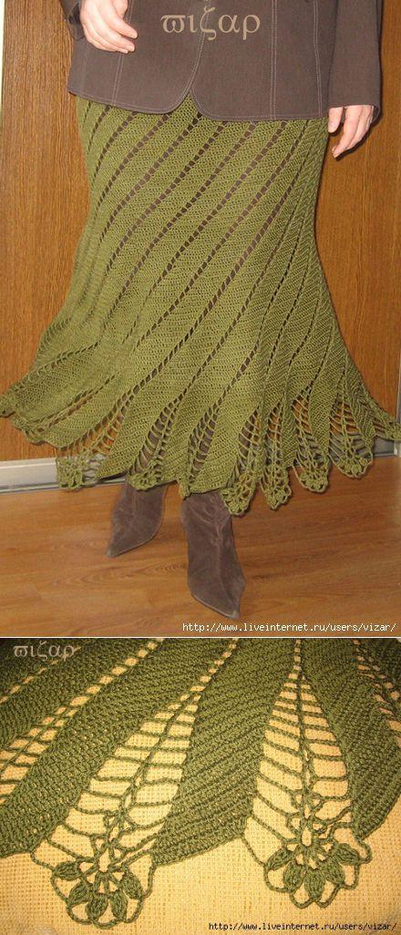 La falda conectado por inclinada