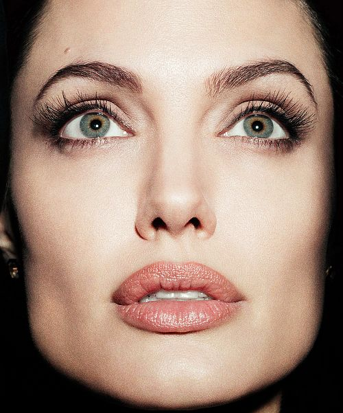 Pretty Square Faces: Angelina Jolie, Face, Close-up