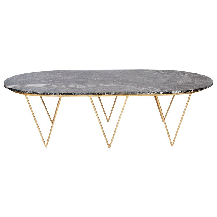 Worlds Away Surf Coffee Table With Black Marble Top   Coffee U0026 Cocktail  Tables   Living